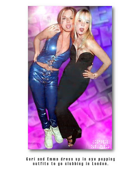 Blue PVC Hipster Pants by Iconic Spice Girls Designer