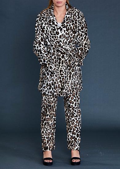 Snow Leopard Fur Jacket by Iconic Spice Girls Designer