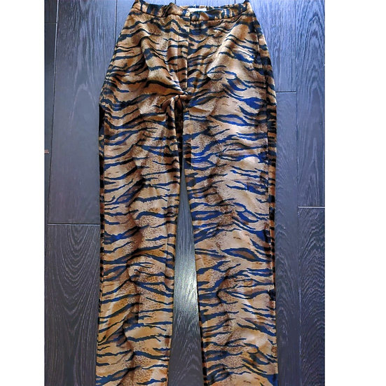 Printed Brown Trouser by Iconic Spice Girls Designer
