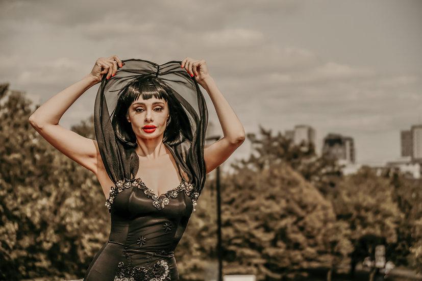Black Flamenco Basque Dress