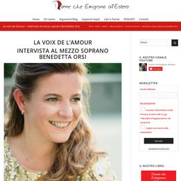 La voix de l'amour Intervista al mezzo soprano Benedetta Orsi