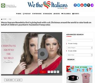 "Read about Benedetta's album ""Christmas around the world"""