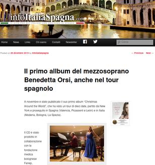 Il primo allbum del mezzosoprano Benedetta Orsi, anche nel tour spagnolo