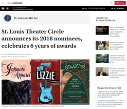 St. Louis Theater Circle announces its 2018 nominees
