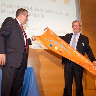 Cérémonie de remise du Pavillon Orange à la ville de Saint-Etienne