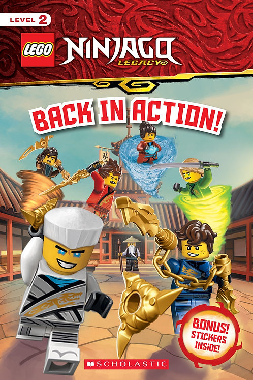 Back in Action! (LEGO Ninjago: Reader with Stickers)
