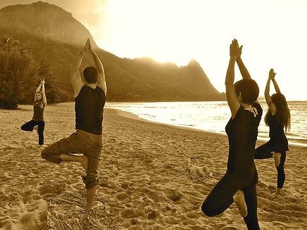 yoga by the sea, oceanside private yoga kauai