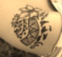 polynesian tattoo, honu, turtle, plumeria