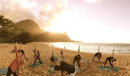 private yoga hanalei bay, yoga by the sea kauai