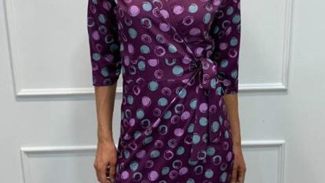 Kate & Pippa purple polka dot dress