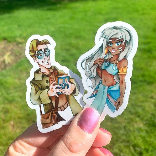 Atlantis Milo & Kida Stickers