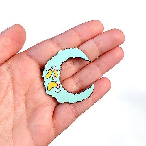 Gloomy Moon Pin