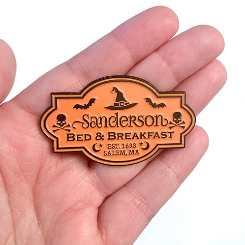 Sanderson B&B Pin (Orange)