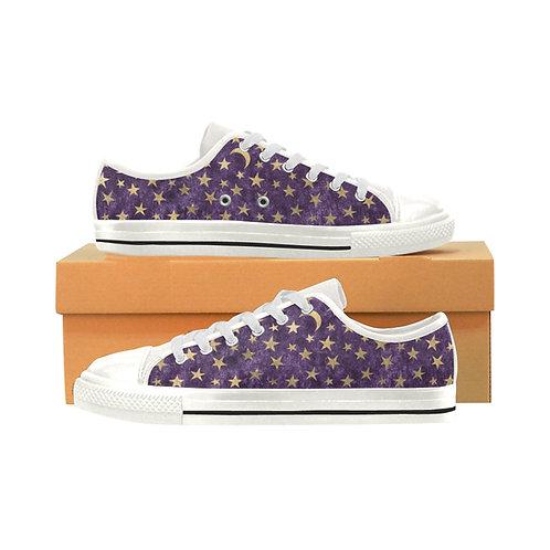 Purple Celestial Canvas Lace Up Shoes