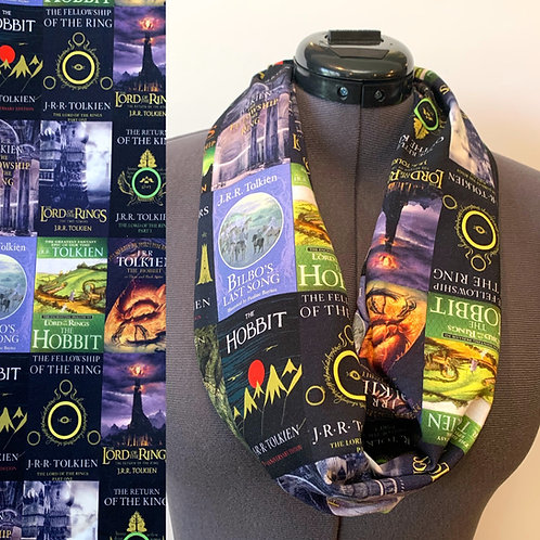 LOTR Book Cover scarf