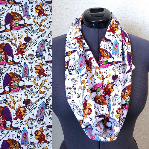 Beauty and the Beast Music Scarf