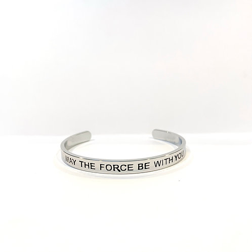 May the Force Be With You Bracelet Cuff