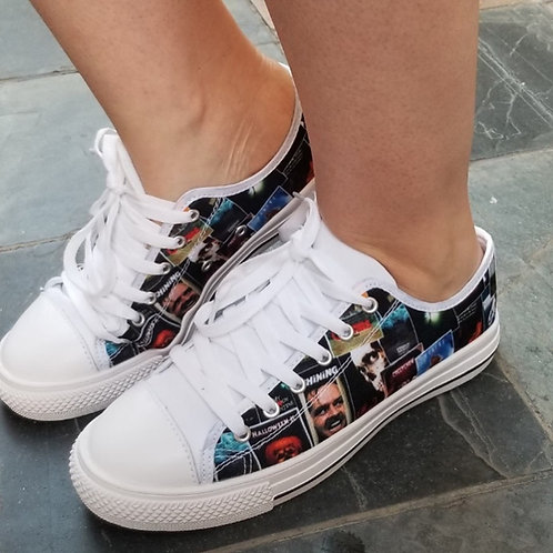 80's Horror Canvas Lace Up Shoes