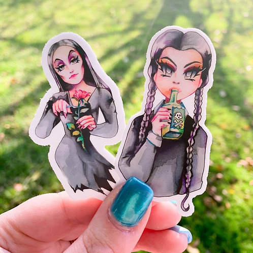 Addams Family Stickers