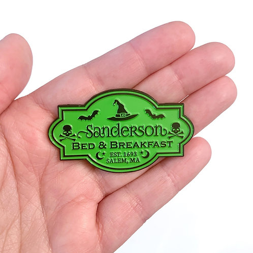 Sanderson B&B Pin (Lime Green)