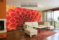 Cochrane Floors Room in Bloom Mural