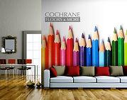 Cochrane Floors Pecil Crayons Mural