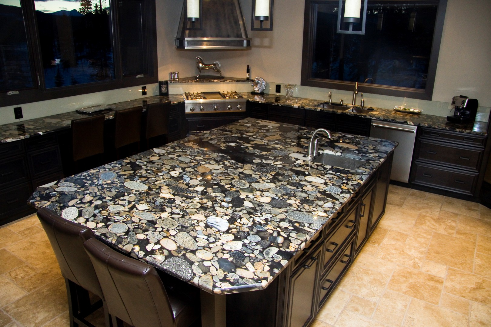 River Rock Black Granite