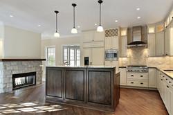 Cochrane Floors - Stone Fireplace