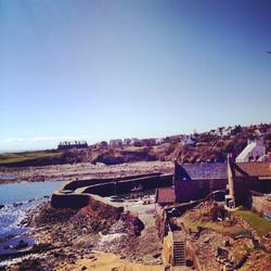 Sunny Crail harbour