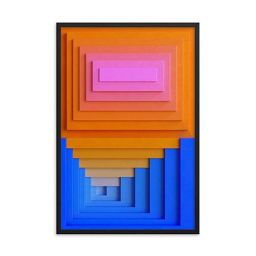 """Josef's squares fig. 02 -  24""""-36"""" Framed"""