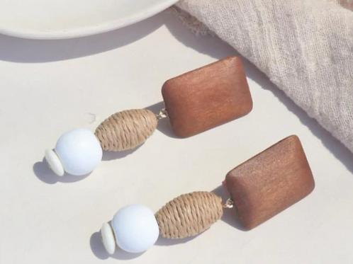 ROWAN Hemp Wood Earrings