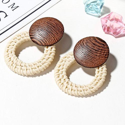 CHLOE Round Wood Hoop (Cream)