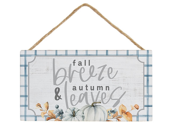 Fall Breeze Gingham Sign