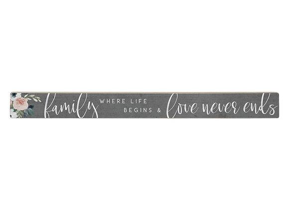 Family Shelf Sign