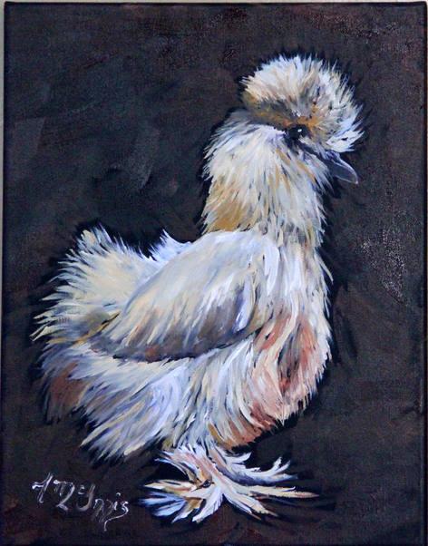 """Funky Silk"" 11x14 Oil on canvas"