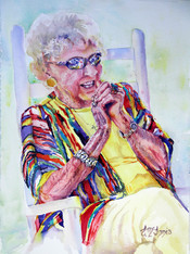 """""""Queen of Color"""" Private collection, 18.5x24"""" Watercolor on paper."""