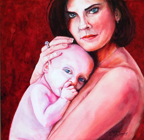 """""""Kim and Baby"""" SOLD"""