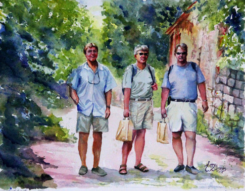 """""""Three Serpers"""" 16x20"""" Private Collection."""