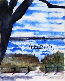 Camp Helen 8x10 Watercolor