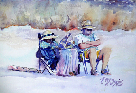 """""""Harold Are U Listening?"""", 13.25x16.75"""" Watercolor on paper."""