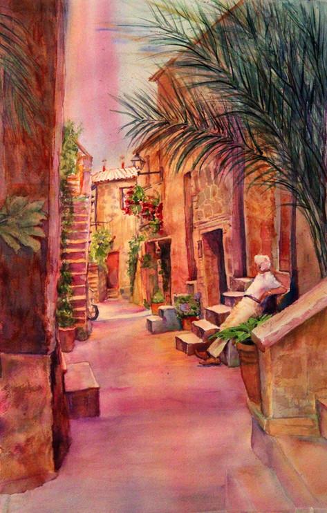 """""""Reposo"""" 22x28"""" Watercolor on paper."""
