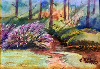 """""""The Guided Path"""" 8x10 Watercolor"""