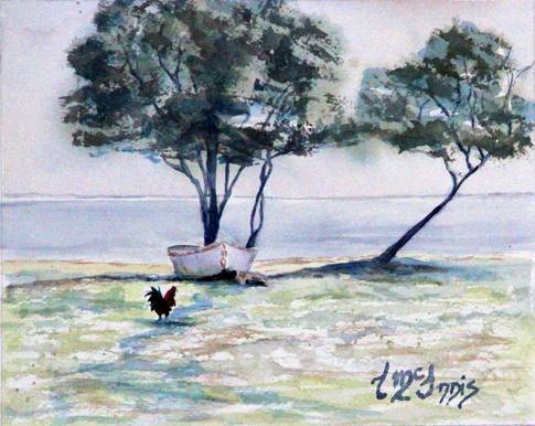 """Nick's Bayou Birds"" Watercolor 8x10"