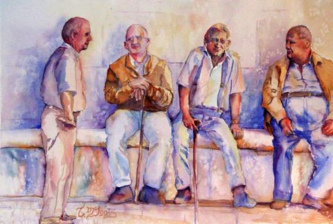 """The Pitigliano Connection"" 23x29 Watercolor on paper."