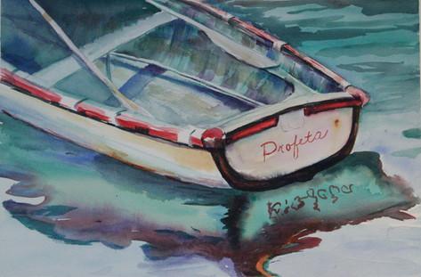 """Profeta"" , 22x29"" Watercolor on paper."