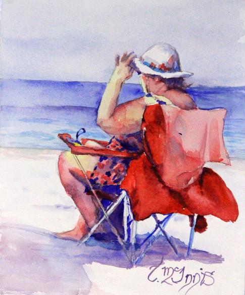 """""""Bright Sun"""", 14x16 Watercolor on paper."""