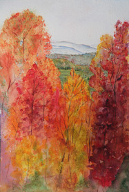 """""""Hiawassi Overview"""" , 22x30"""" Watercolor on paper."""
