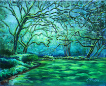 "Eden's Glow Oil on canvas 16x20"""