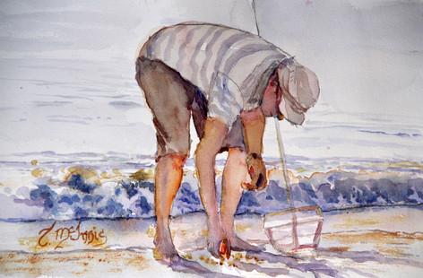 Lone Raker 8x10 Watercolor