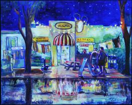 """Market Cafe"" 16x20"" Oil on canvas"